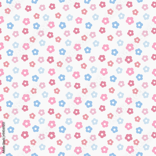 simple baby cute pastel pattern, vector illustration