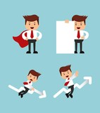 successful businessman character isolated icon design
