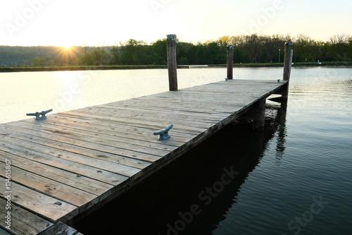 Foto op Aluminium Pier Marina on Lake Cayuga