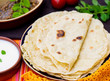 Постер, плакат: Indian flatbread chapati or roti