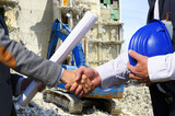 Handshake for construction project
