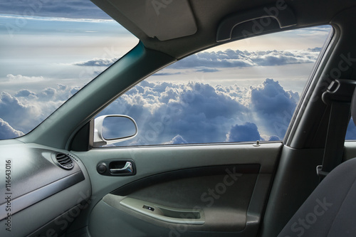 Foto op Canvas Stadion Interior of fly car