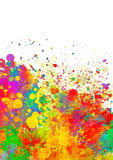 Abstract color splash vector background - 114651827
