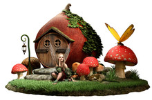 Fairy House Sticker