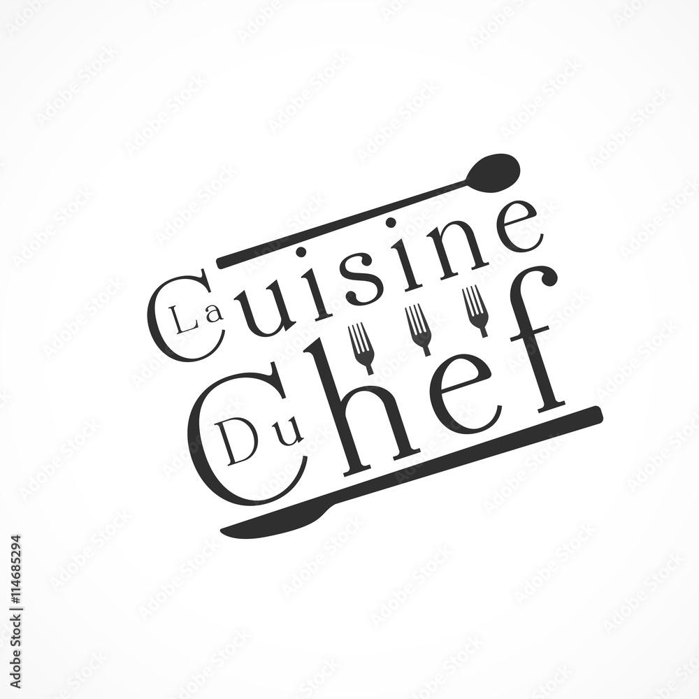 la cuisine du chef sticker by stickersticker. Black Bedroom Furniture Sets. Home Design Ideas