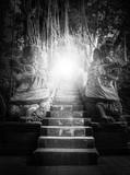 Statue in Sacred Monkey Forest, Ubud, Bali, Indonesia