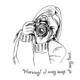Fotograf z aparatem fotograficznym