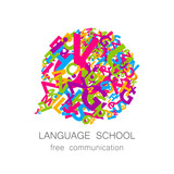 Fototapety language school free communication