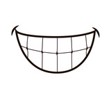 Mouth concept represented by smile cartoon. isolated and flat illustration  - 114714227
