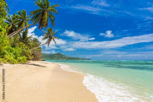 Tropical beach in Seychelles, Mahe