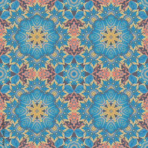 Seamless oriental ornamental pattern. Vector - 114739695
