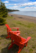 Adirondack Chair overlooking Lake Superior along the north shore region of Minnesota