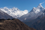 Everest, Lhotse and Ama Dablam mountain peak, Everest region