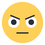 Angry Face - Flat Emoticon design | Emojilicious