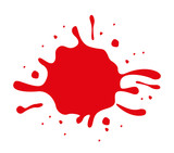 red paint stain isolated icon design