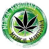 medical cannabis marijuana leaf green textured background