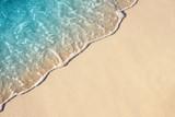 Fototapety Soft wave of sea on the sandy beach