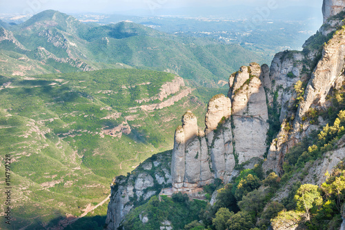 Poster Rocks on Montserrat mountain
