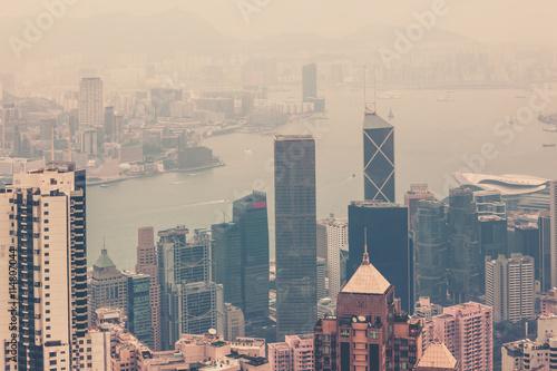 Foto op Aluminium Toronto Hong Kong downtown view from Victoria peak