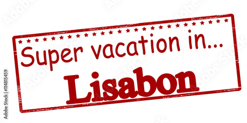 Poster Super vacation in Lisabon