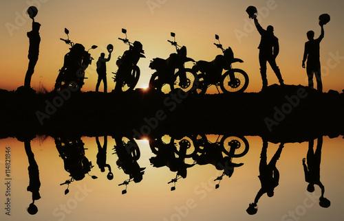 obraz lub plakat hedef sevinci yaşayan motorsikletçiler
