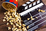 popcorn box with clapper board