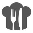 Kochmütze mit Gabel und Messer Icon