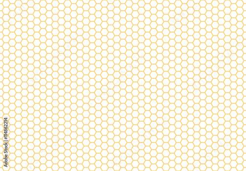 Honeycomb seamless background. Simple seamless pattern of bees' honeycomb. Illustration. Vector. Geometric print. - 114862214