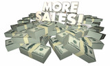 More Sales Selling Success Money Words 3d Illustration