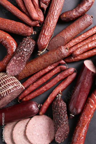 fototapeta na ścianę Sausages