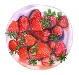Strawbeery plate - 114905695