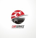 Creative symbol design template for car service