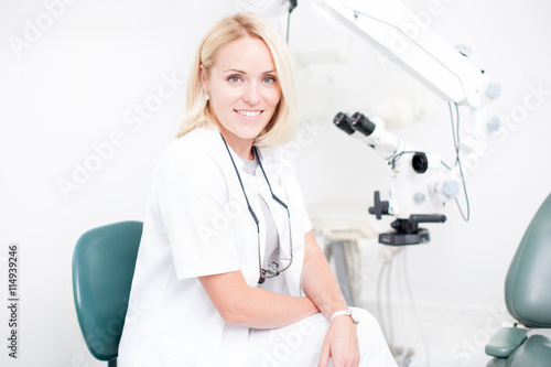 young professional female dentist Poster
