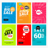Set of sale website banner templates. Vector illustrations for social media banners, posters, email and newsletter designs, ads, promotional material.