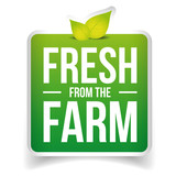 Fresh from the Farm label vector