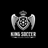 King soccer logo,football club logo.