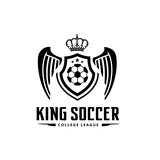 King soccer logo,football club logo.
