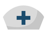 nurse hat isolated icon design