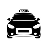 taxi black and white icon Vector Illustration - 114962674