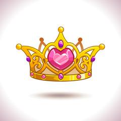 Fancy golden princess crown