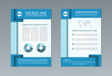Flyer brochure design template. A4 size
