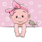 Cute cartoon baby girl