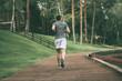 Starting day from morning jog.
