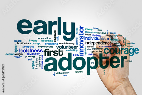Early adopter word cloud concept