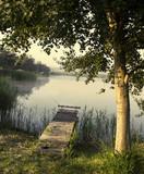 Fishing bridge, morning mist