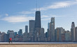 Jogging by Lake Michigan in Chicago