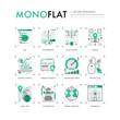 SEO Optimization Monoflat Icons
