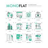 Modern Business Monoflat Icons