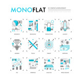 Startup Development Monoflat Icons