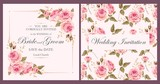 Vintage wedding invitation - 115009253